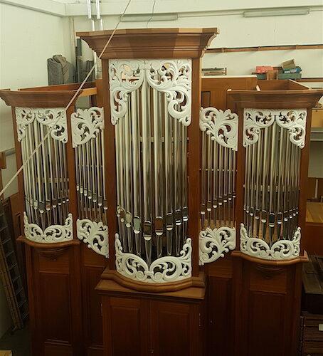 Die Orgel befindet sich zurzeit im Bau und wird nach China geliefert.