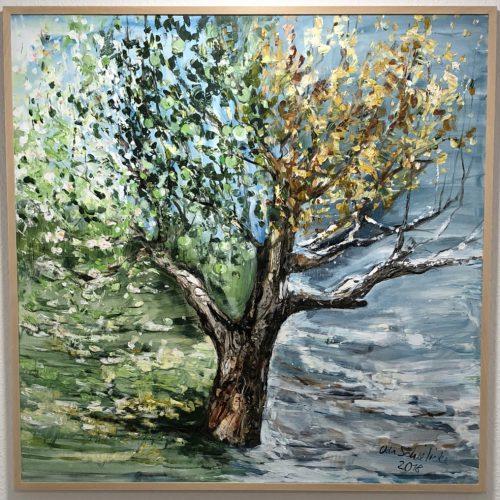 """""""Der Vierjahreszeitenbaum - Symbol für die Phasen des Lebens und die Teile meiner Patientenschaft."""""""
