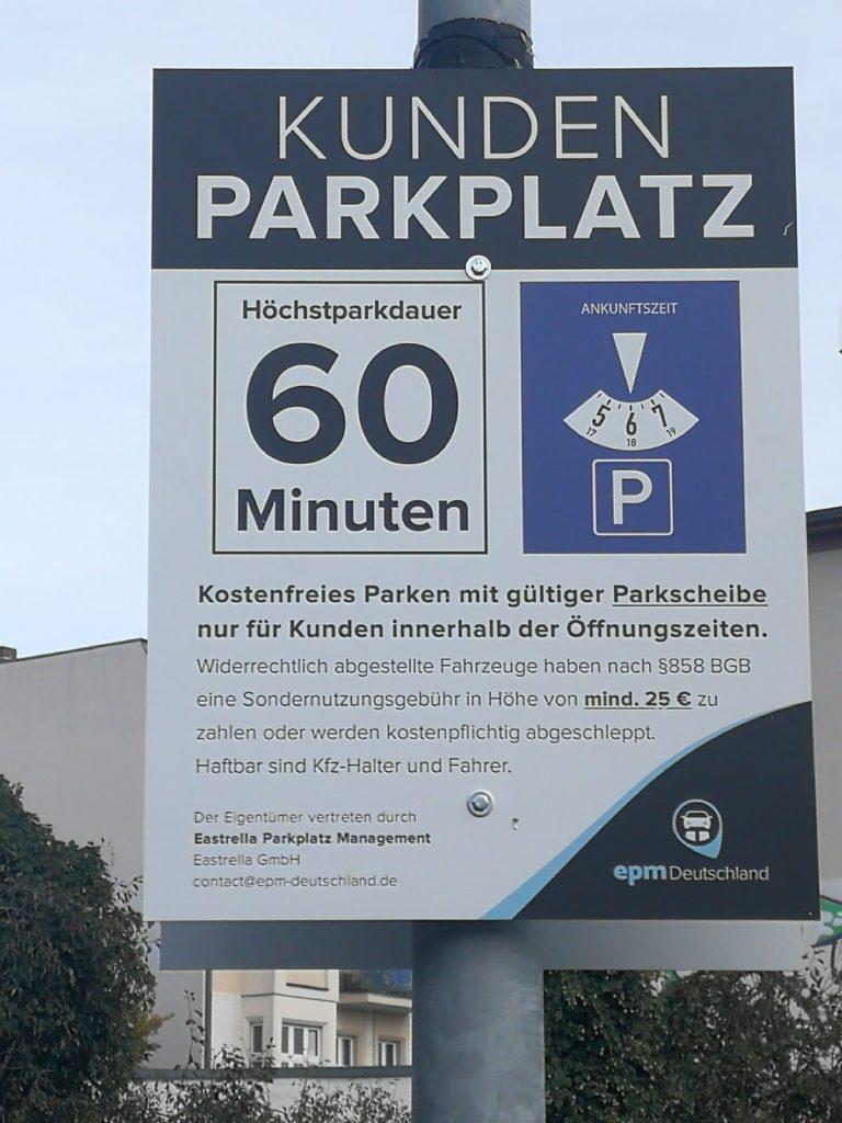 Wo müssen sie zum parken eine parkscheibe benutzen